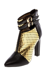 Machi Footwear Black And Gold Bootie - Product Mini Image