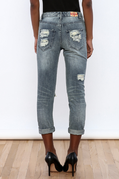 Machine Jeans Lace Cut Off Boyfriend Jeans - Alternate List Image