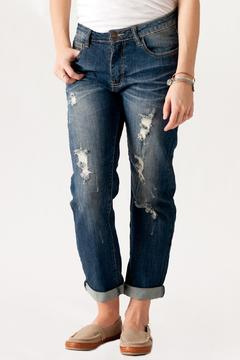 Machine Jeans Destroyed Boyfriend Jeans - Product List Image