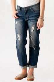 Machine Jeans Destroyed Boyfriend Jeans - Product Mini Image