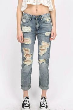 Machine Jeans Destroyed Boyfriend Jeans - Alternate List Image