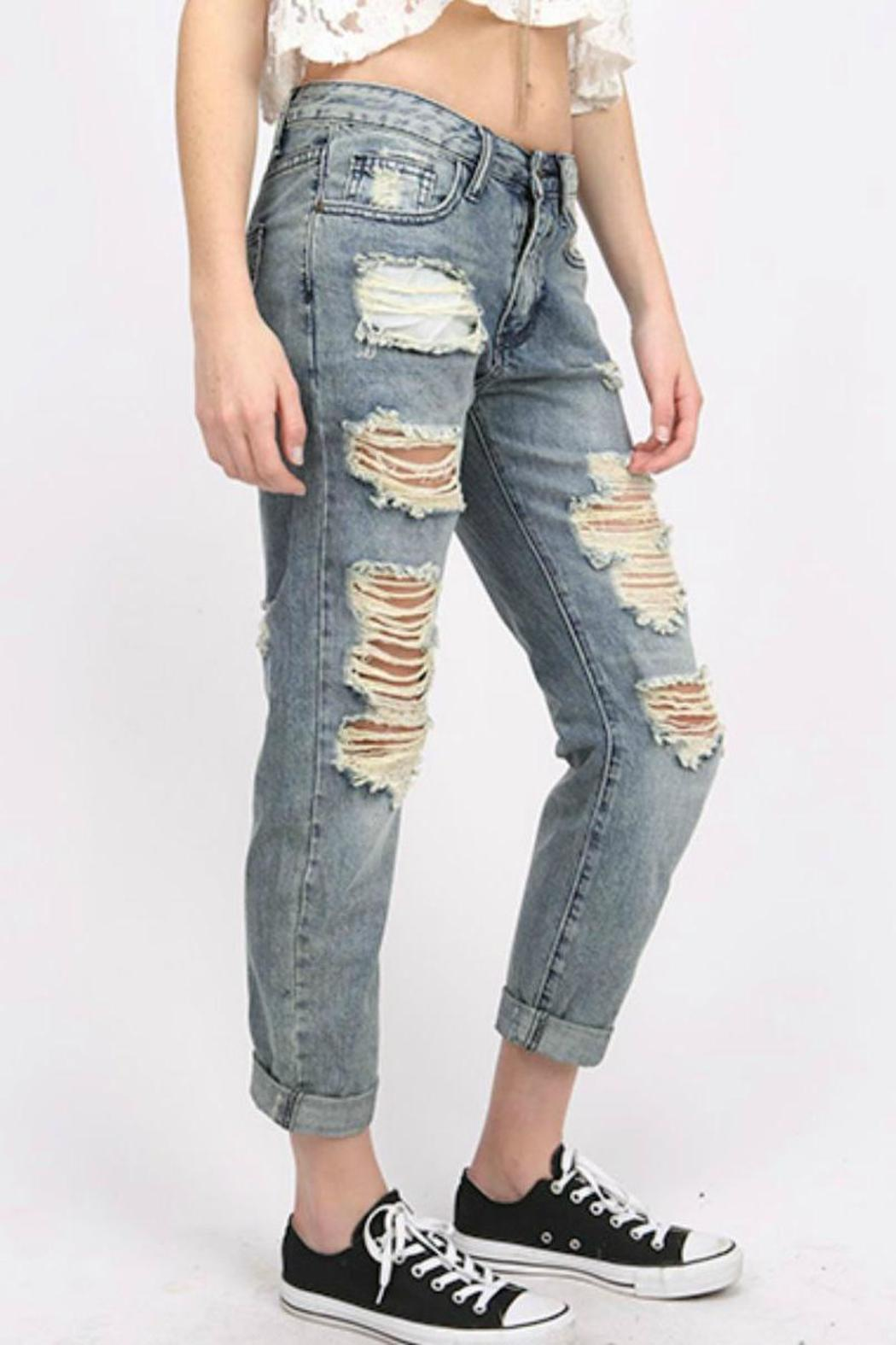 Machine Jeans Destroyed Boyfriend Jeans from Fayetteville by ...