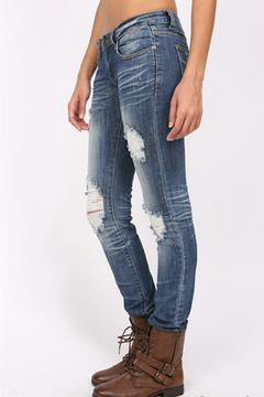 Shoptiques Product: Destroyed Skinny Jeans