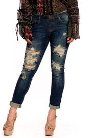 Machine Jeans Distressed Folded Jeans - Product Mini Image