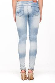 Machine Jeans Distressed Patched Jeans - Front full body