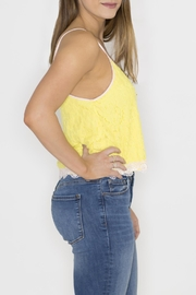 Machine Jeans Yellow Lace Overlay Top - Front full body