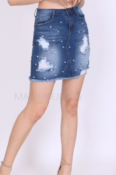 Shoptiques Product: Pearl Denim Skirt