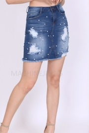 Machine Jeans Pearl Denim Skirt - Product Mini Image