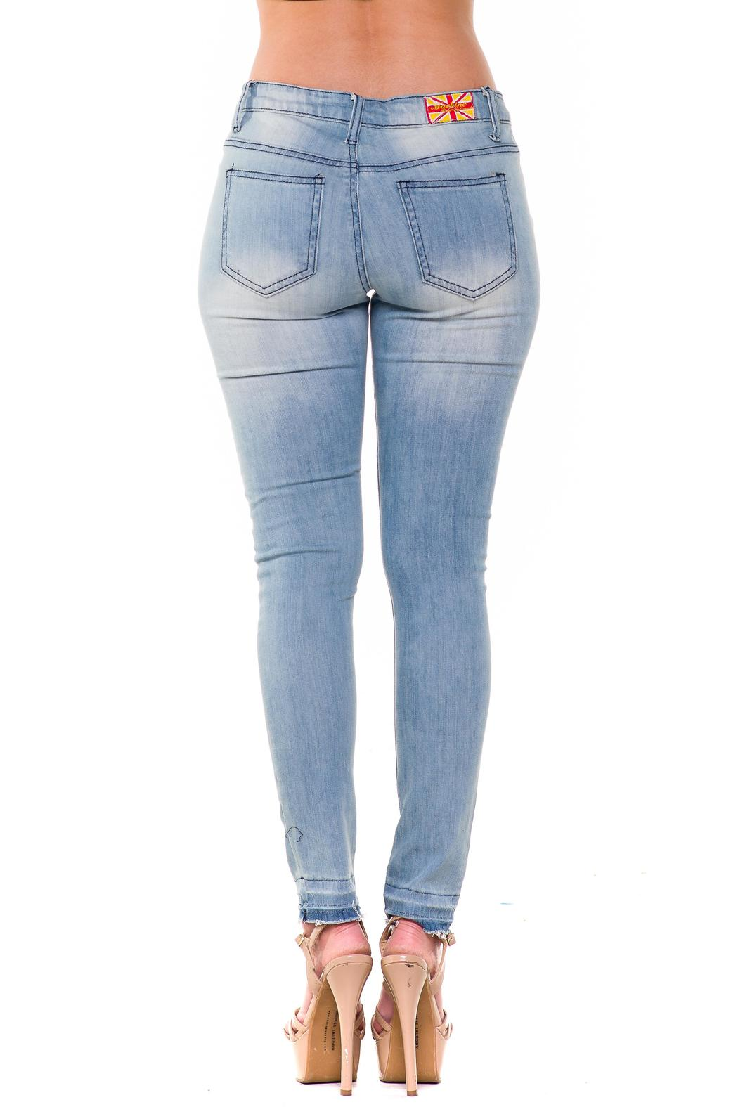 Machine Jeans Slashed Skinny Jeans from Miami by L.A. Roxx ...