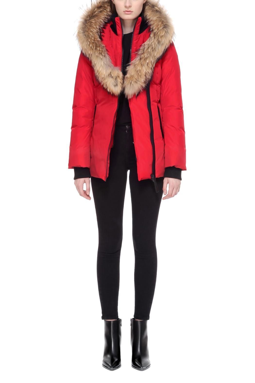 Mackage Adali Red Coat - Front Full Image