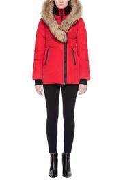 Mackage Adali Red Coat - Front cropped