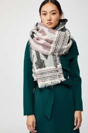 Mackage Aro Woven Scarf - Front full body