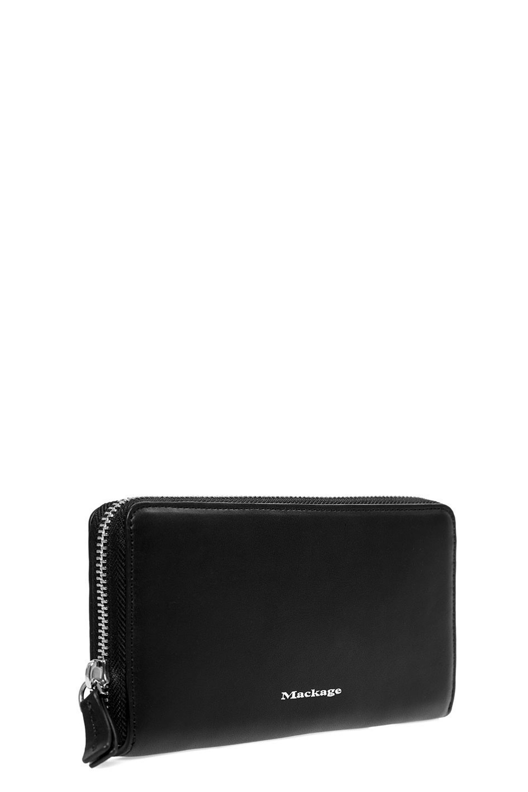 Mackage Duke Leather Zip Wallet - Front Full Image
