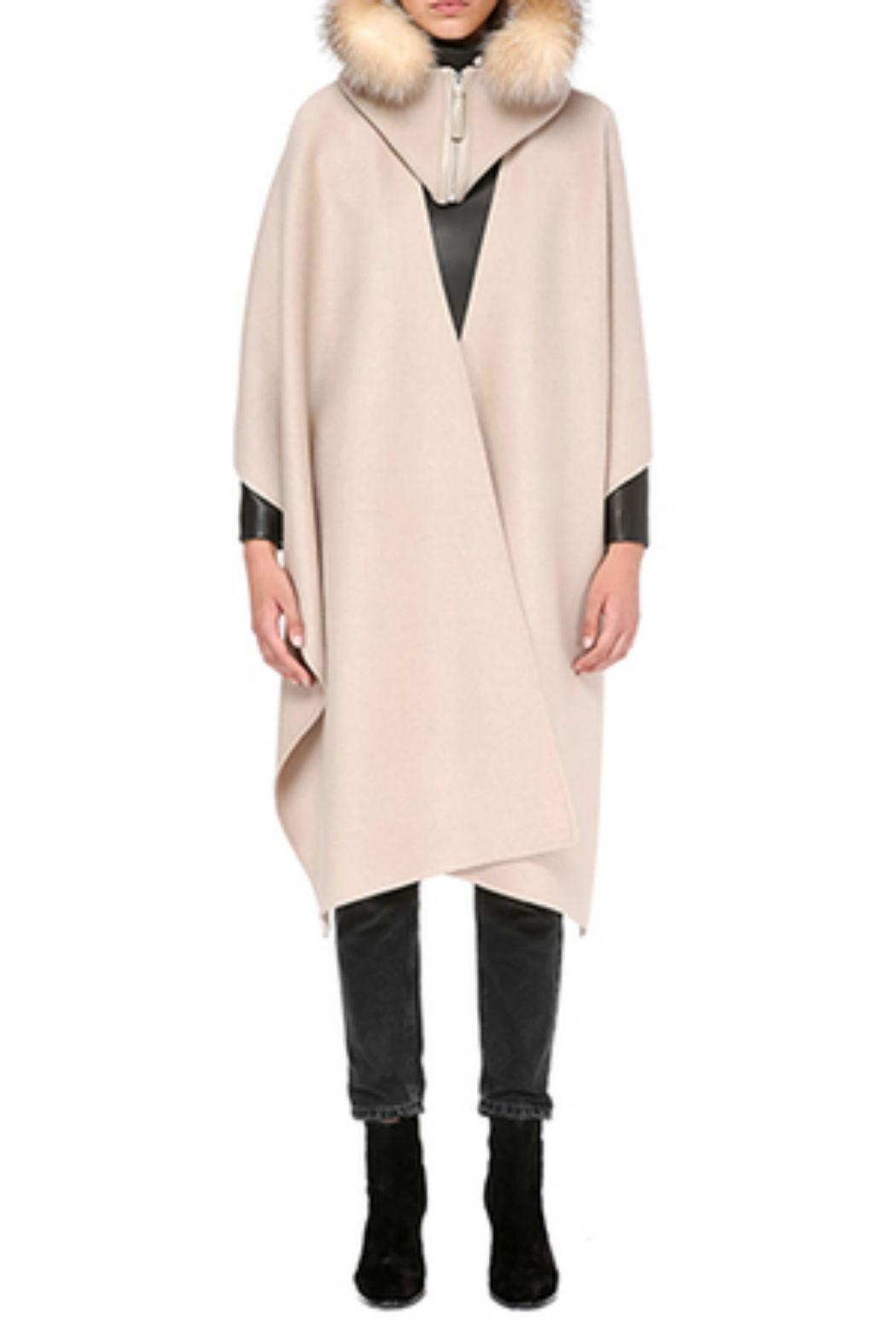 Mackage Helina-X Wool Cloak - Front Cropped Image