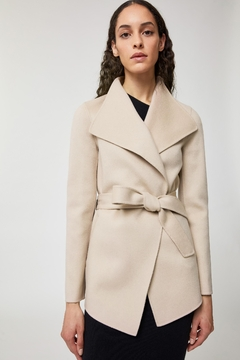 Mackage Azara Belted Light Wool Coat - Product List Image