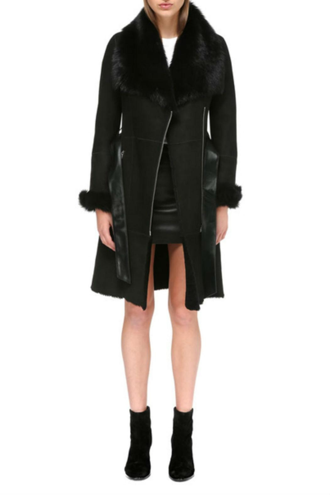 Mackage Nerea Sheepskin Coat - Front Full Image