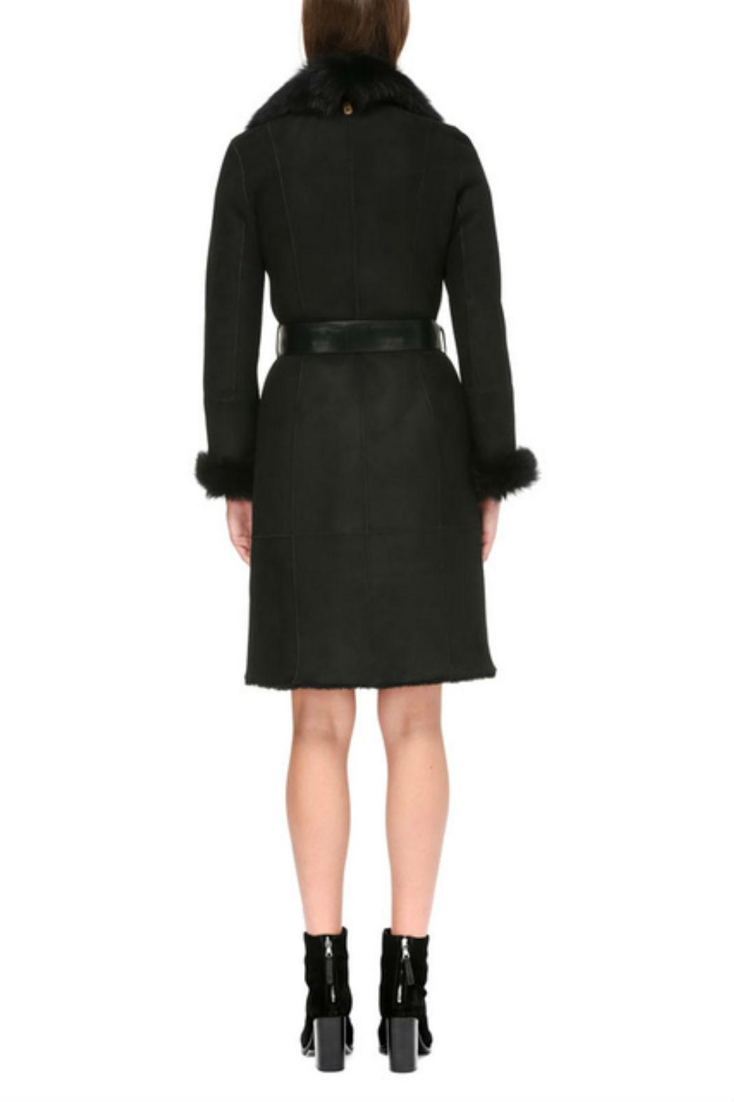 Mackage Nerea Sheepskin Coat - Back Cropped Image