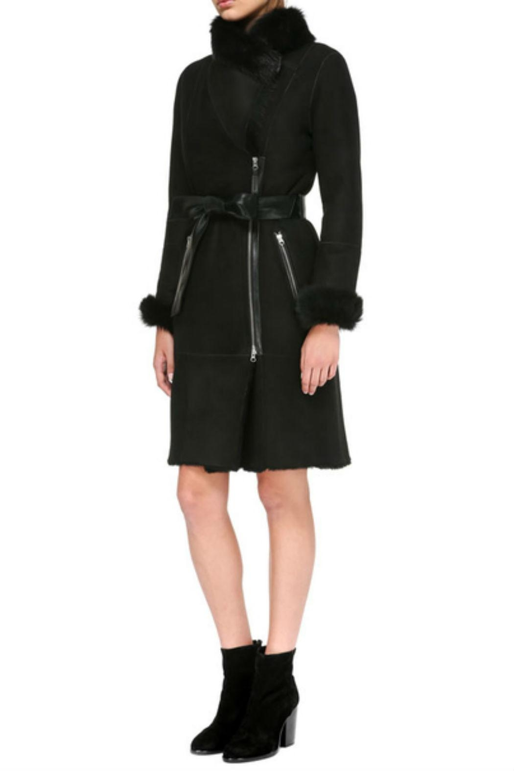 Mackage Nerea Sheepskin Coat - Side Cropped Image