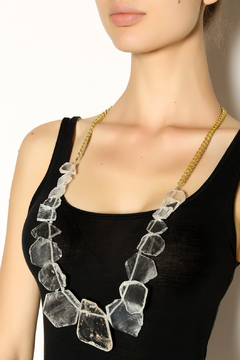 Mackbeth Raw Quartz Necklace - Alternate List Image