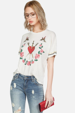 Lauren Moshi Mackenzie Garden of Love Tee - Product List Image