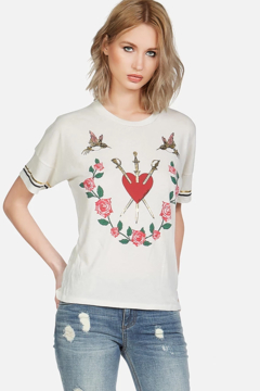 Lauren Moshi Mackenzie Garden of Love Tee - Alternate List Image