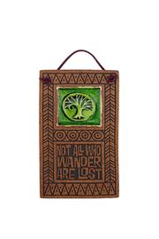 MACONE CLAY Etched Ceramic Wall Art - Front cropped