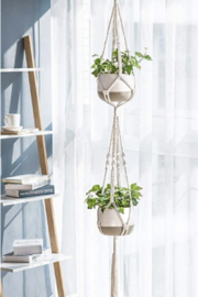 Kindred Mercantile Macrame Double Trouble Plant Hanger - Product Mini Image