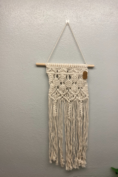 Shoptiques Product: Macrame Lilly Loop Wall Hanging