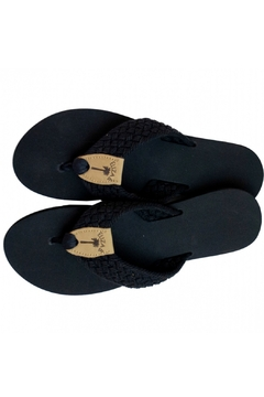 Eliza B Macrame Sandal on Black Sole - Product List Image