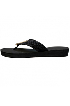 Eliza B Macrame Sandal on Black Sole - Alternate List Image