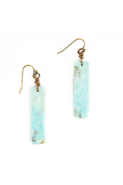 The Birds Nest MAD AMAZONITE RECTANGLE EARRINGS - Product Mini Image