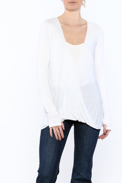 Mad Style White Draping Top - Product List Image