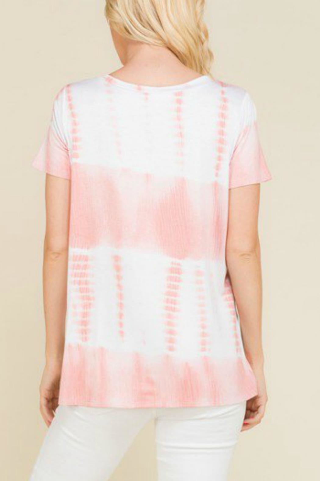 Mad Fit Blush Tiedye Top - Front Full Image
