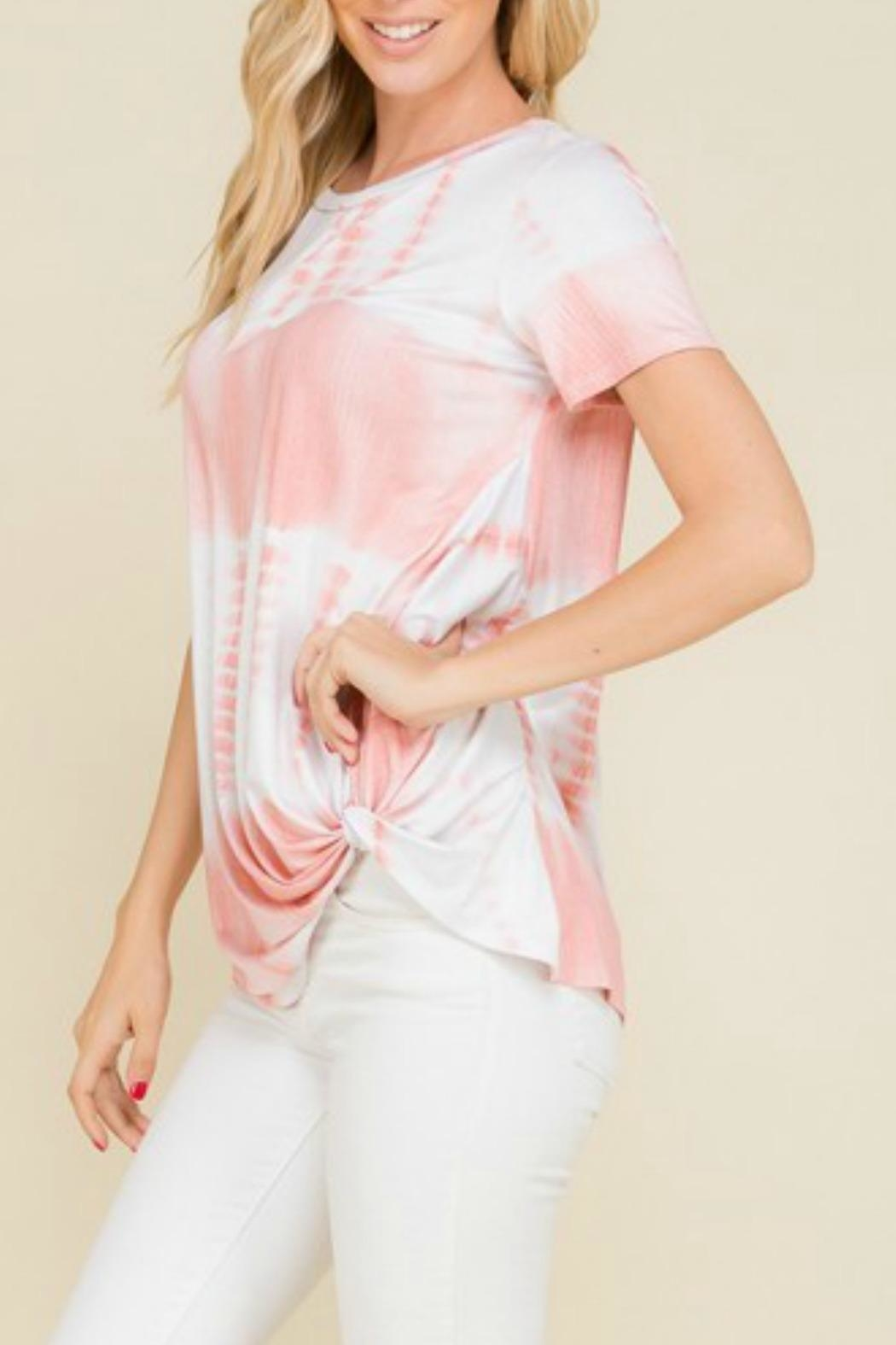 Mad Fit Blush Tiedye Top - Side Cropped Image