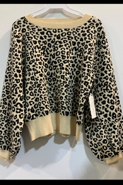 Mad For Love Animal Print Cropped-Sweater - Front cropped