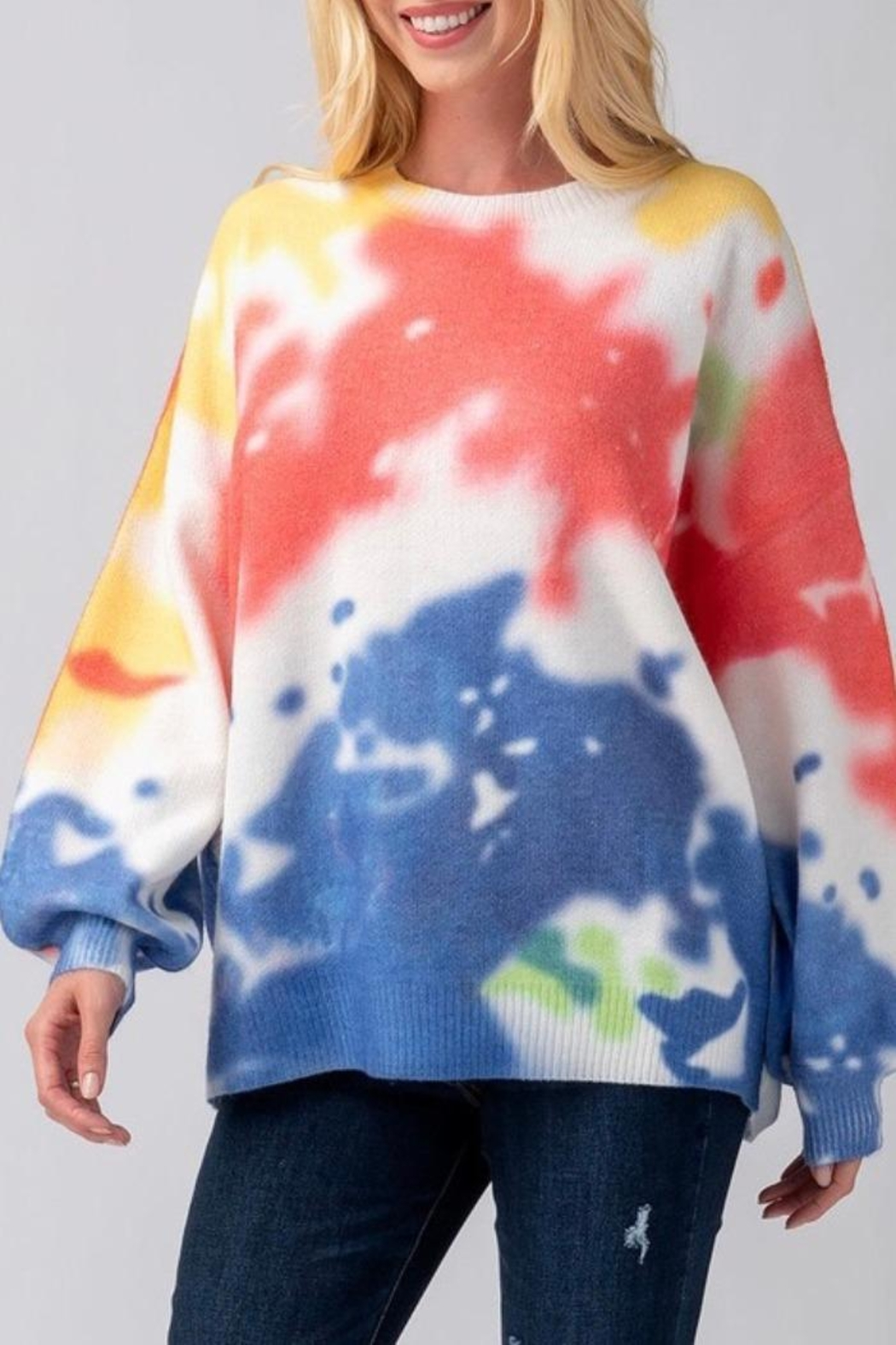 Mad For Love Water Color Sweater - Main Image