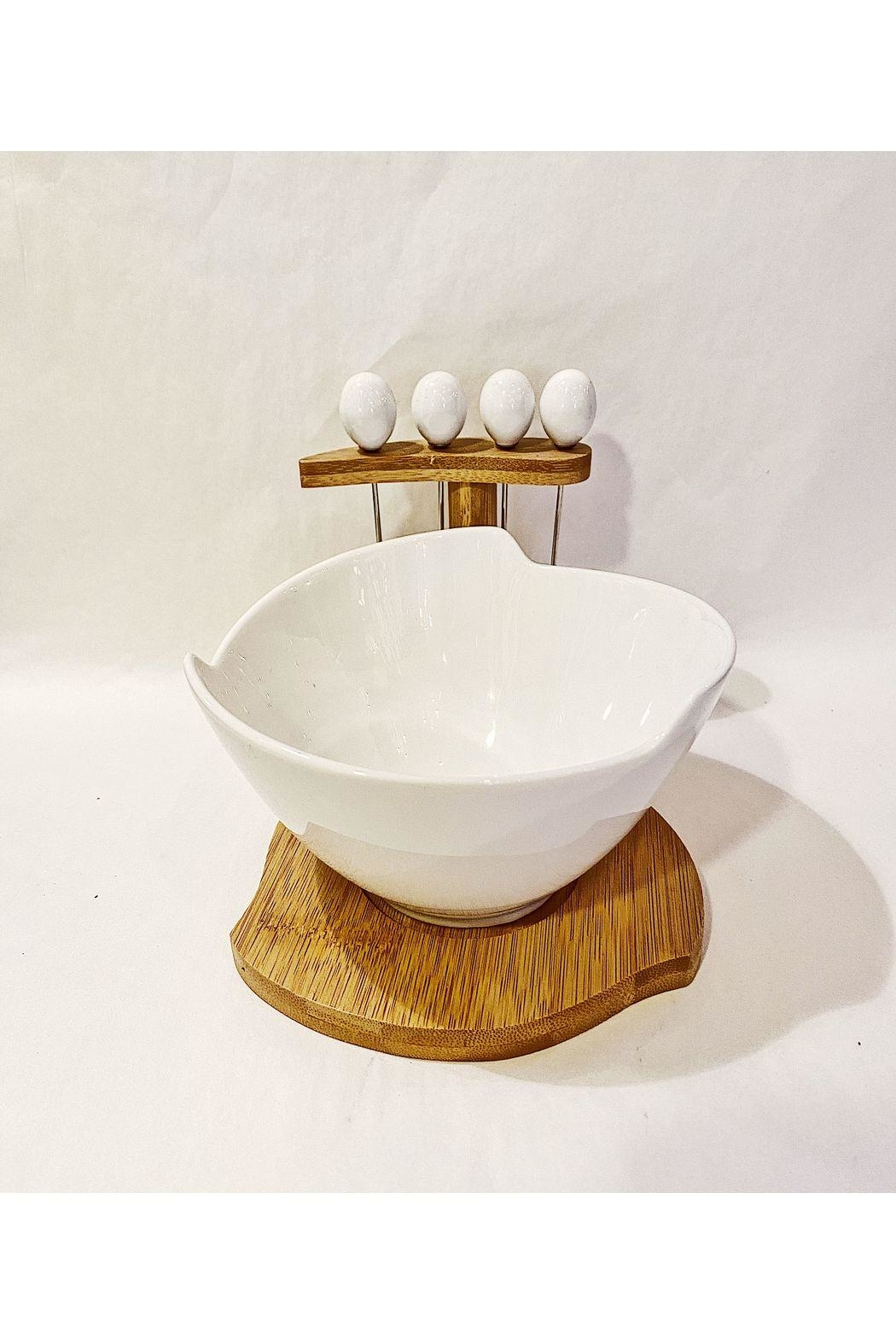 Mad Style Snack Bowl With 4 Forks - Main Image