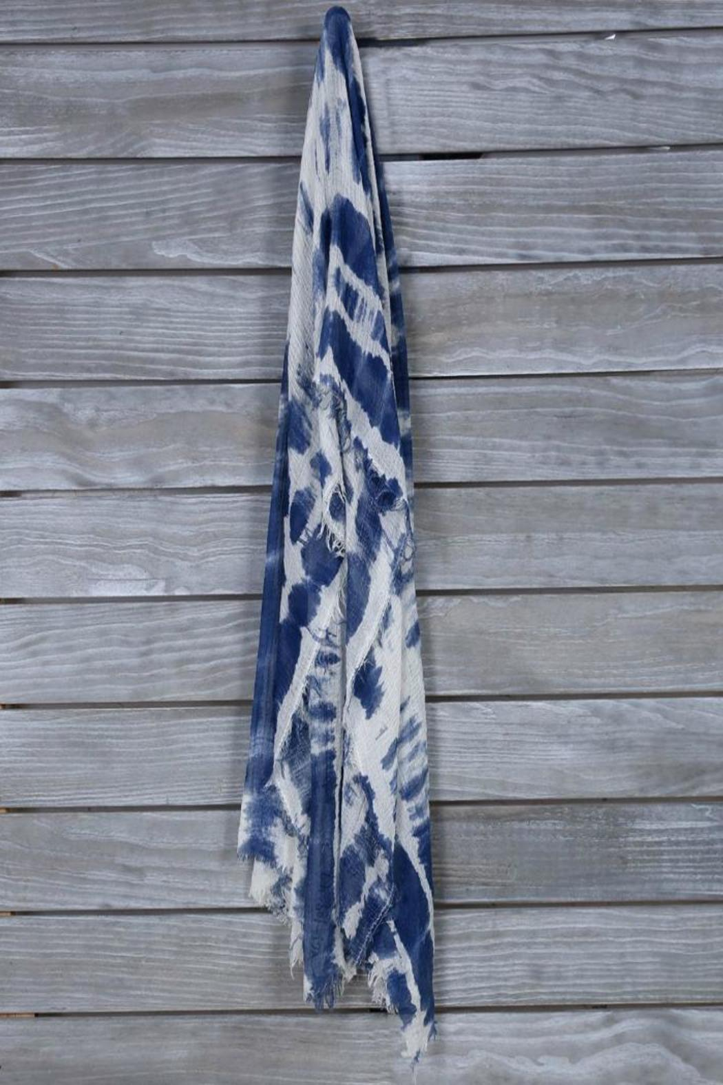 Mad Style Tie-Dye Scarf - Front Cropped Image