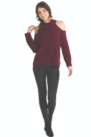 Mud Pie Madden Cold-Shoulder Mock-Neck - Product Mini Image