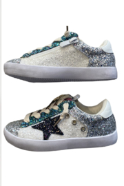 CHLOE K. NEW YORK  Maddi Glitter Sneakers - Product Mini Image