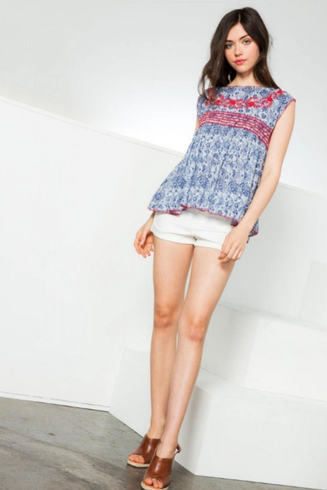 THML Clothing Maddie Embroidered Top - Front Full Image