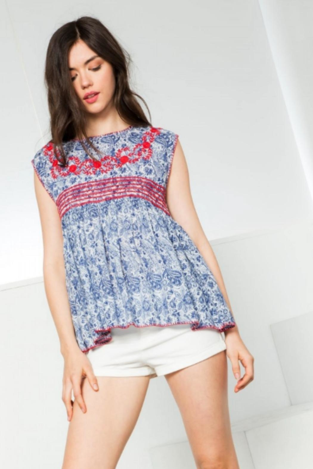 THML Clothing Maddie Embroidered Top - Main Image