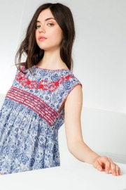THML Clothing Maddie Embroidered Top - Back cropped