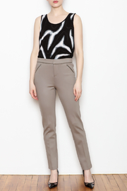 Tyler Boe Maddie Faux Leather Trim Pant - Side cropped