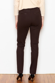 Tyler Boe Maddie Faux Leather Trim Pant - Front full body