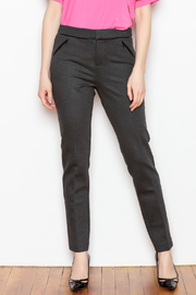 Tyler Boe Maddie Faux Leather Trim Pant - Product Mini Image