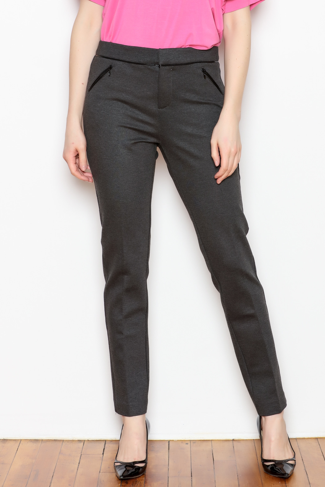 Tyler Boe Maddie Faux Leather Trim Pant - Main Image