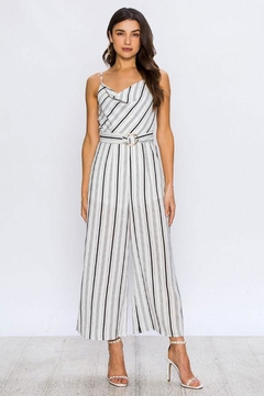 Flying Tomato Maddie Striped Jumpsuit - Product List Image