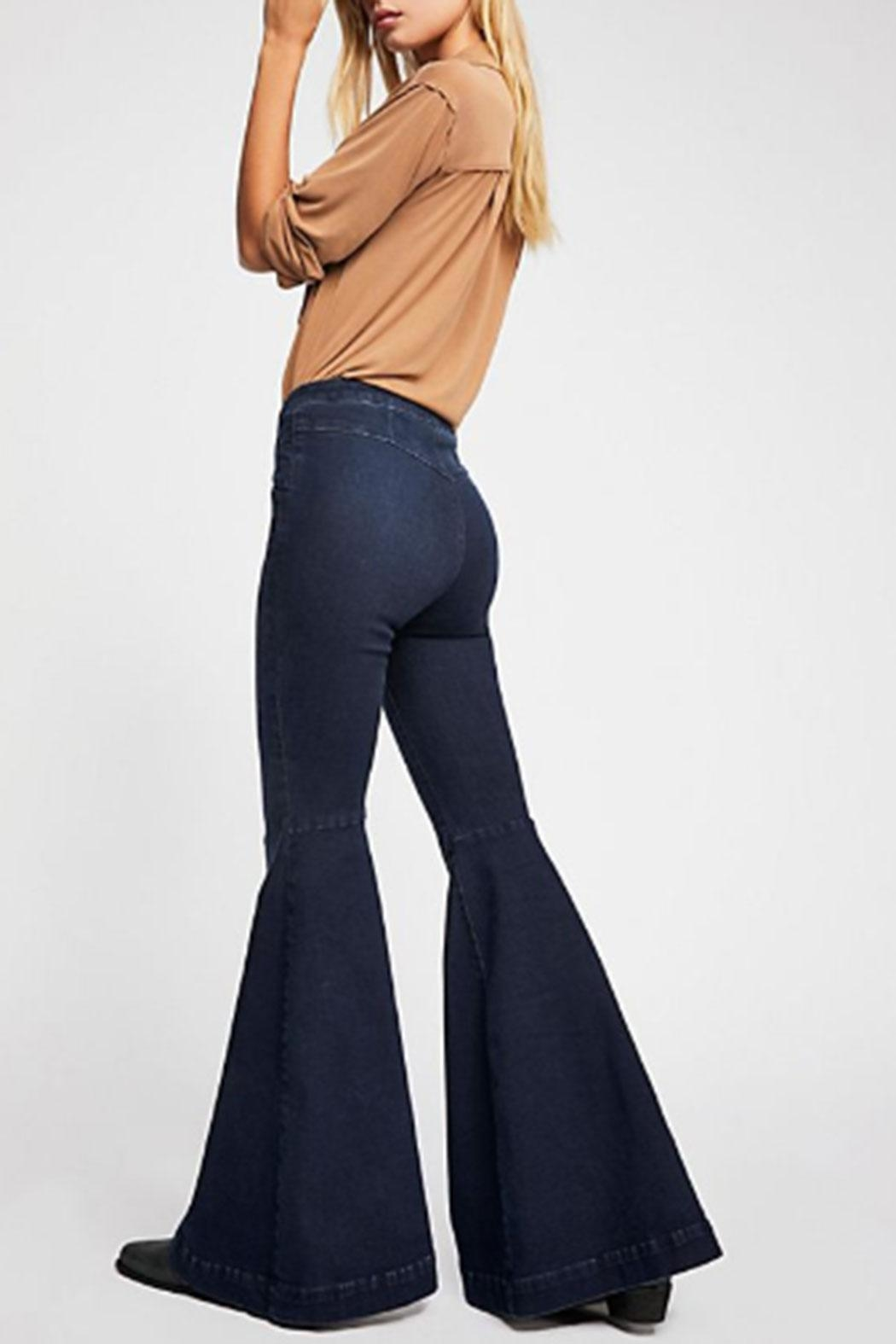 Free People Maddox Denim-Flare Jeans - Side Cropped Image
