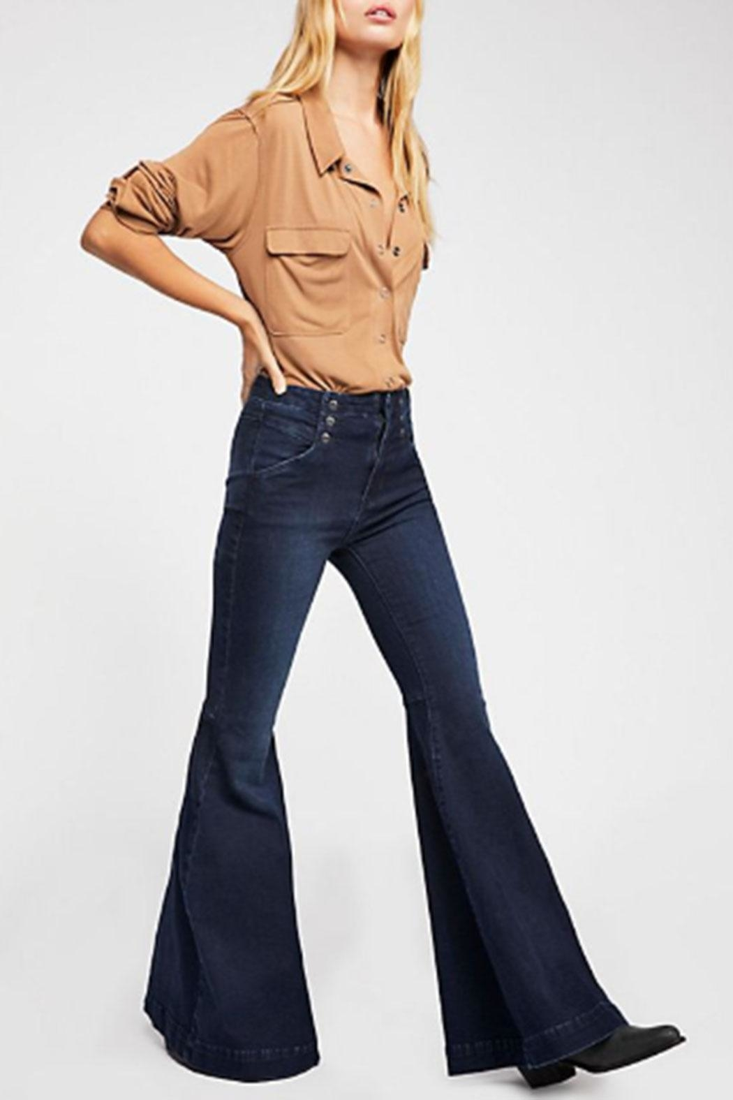 Free People Maddox Denim-Flare Jeans - Front Full Image